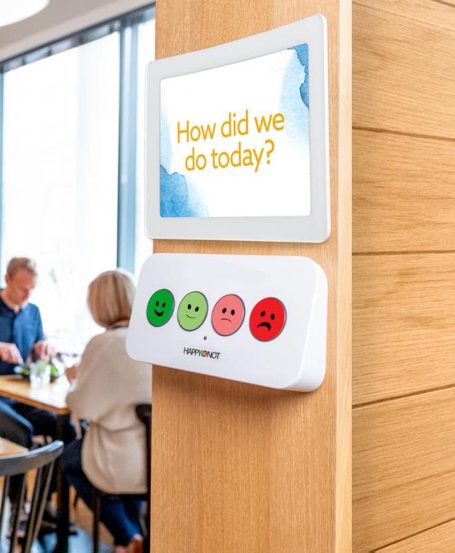 飲食店での設置イメージ, 質問ボードあり